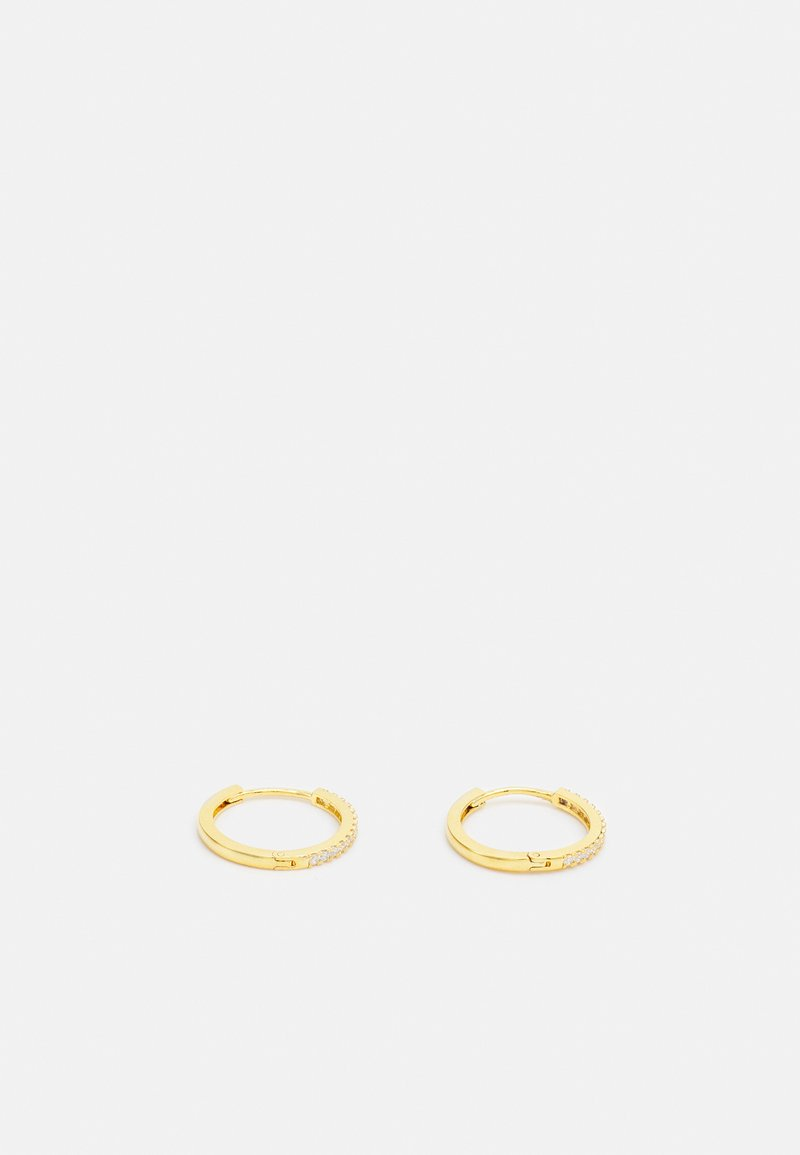 Orelia - PAVE HUGGIE HOOPS - Earrings - pale gold-coloured