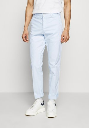 STRETCH SLIM FIT PANTS - Tygbyxor - blue