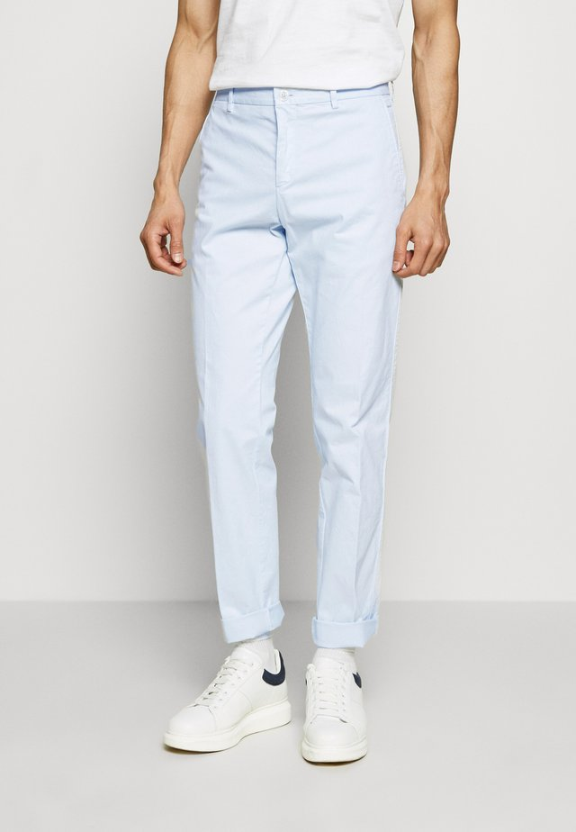 STRETCH SLIM FIT PANTS - Broek - blue