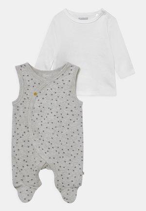 SET UNISEX - Top sdlouhým rukávem - soft white melange