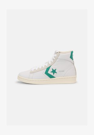 PRO UNISEX - High-top trainers - white/court green
