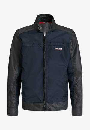 MET BIKERDETAILS EN COATED DENIMLOOK - Veste mi-saison - dark blue