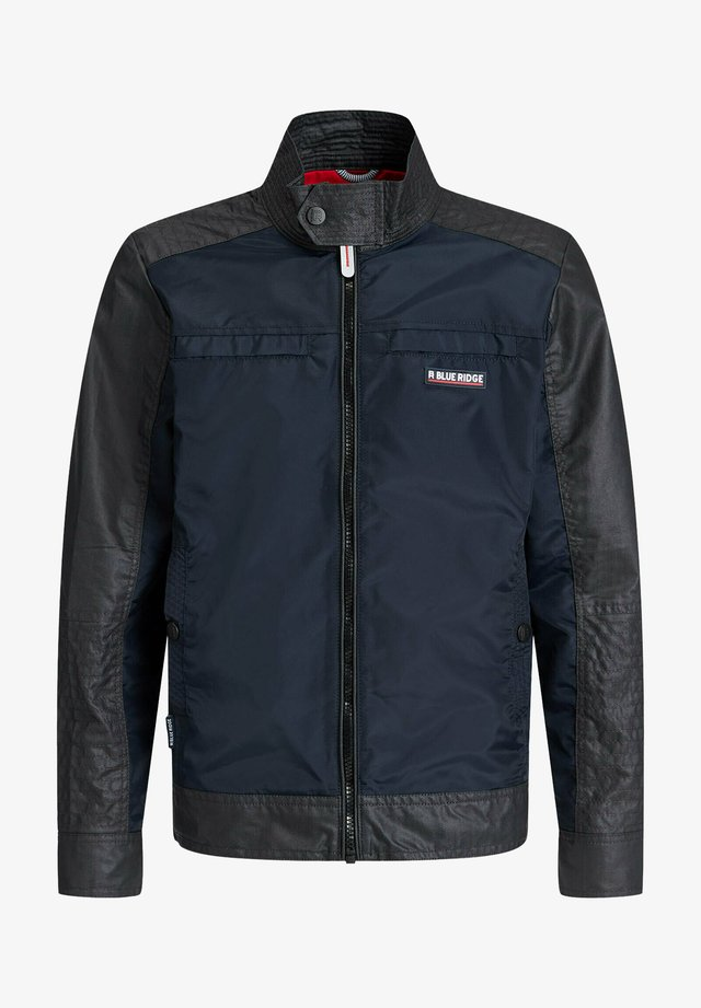 MET BIKERDETAILS EN COATED DENIMLOOK - Übergangsjacke - dark blue