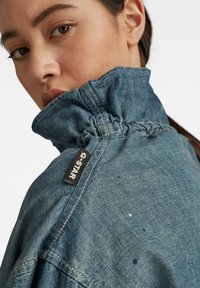 G-Star - LONG SLEEVE MOCK NECK  - Summer jacket - antic faded aegean blue painted - 3