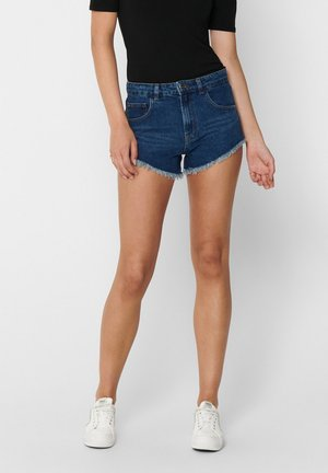 ONLFREY HW - Szorty jeansowe - medium blue denim