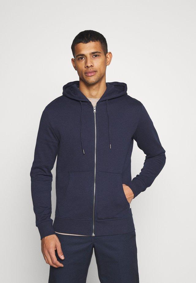 JJEBASIC ZIP HOOD - Zip-up hoodie - navy blazer