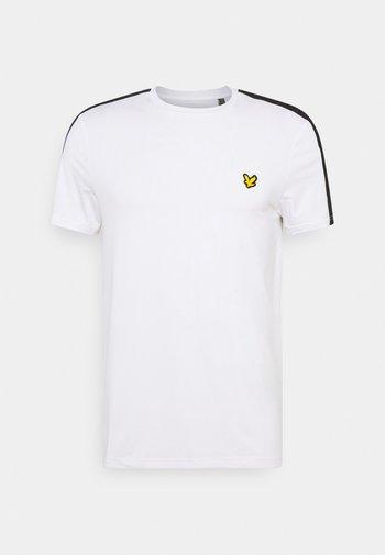 SLEEVE TAPE TEE - T-shirt - bas - white