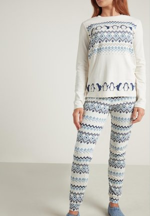 Pyjama set - milk white nordic print
