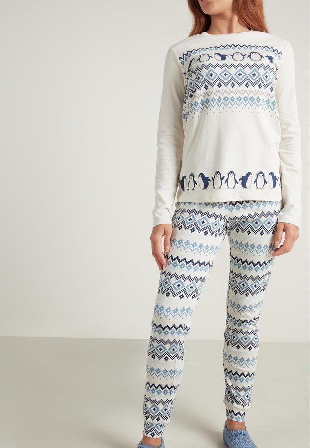 Pyjama set - milk white nordic print
