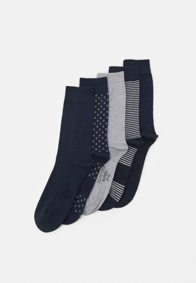 STAY FRESH 5 PACK - Chaussettes - blue