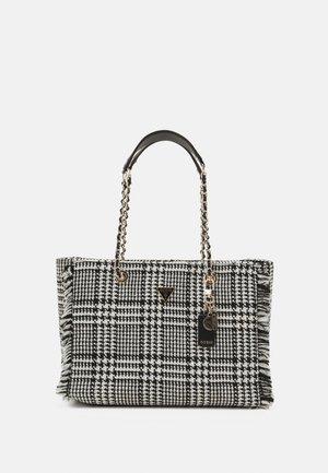 CESSILY TOTE - Handbag - black/white