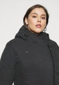 Ragwear Plus - GORDON LONG PLUS - Zimní kabát - black - 3
