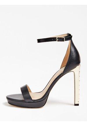 SANDALETTE EIRA ECHTES LEDER - High heeled sandals - schwarz