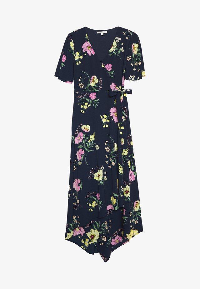 PRINTEDWRAP DRESS - Vapaa-ajan mekko - navy blue