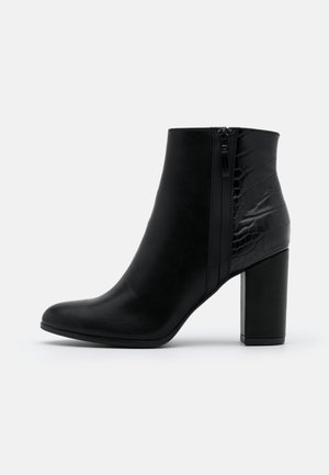 VERONA  - High heeled ankle boots - black