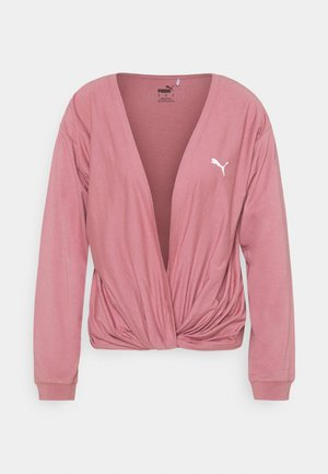PAMELA REIF X PUMA COLLECTION OVERLAY CREW - Long sleeved top - mesa rose