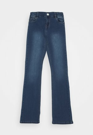 NKFPOLLY PANT - Jeans bootcut - dark blue denim