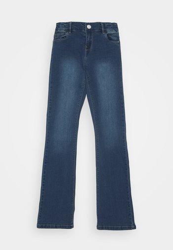 NKFPOLLY PANT - Jeans Bootcut - dark blue denim