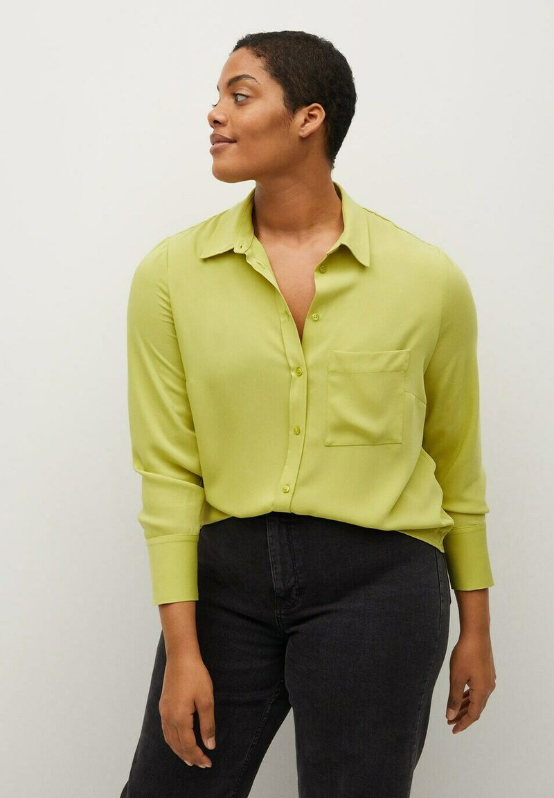 Violeta by Mango - SEDI - Button-down blouse - limette