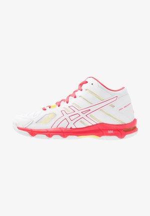 GEL-BEYOND MT - Volleyball shoes - white/laser pink
