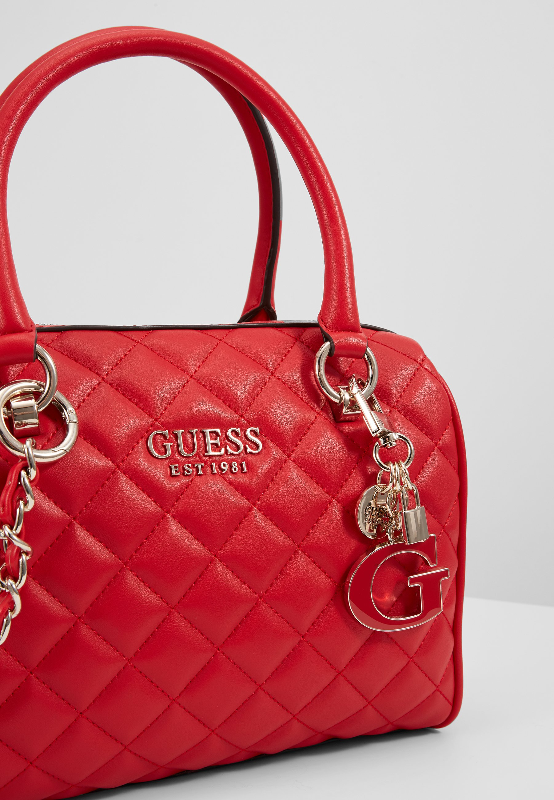 Guess MELISE BOX SATCHEL Håndveske red Zalando.no