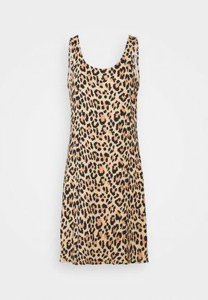 VISUN DRESS - Jersey dress - tigers eye