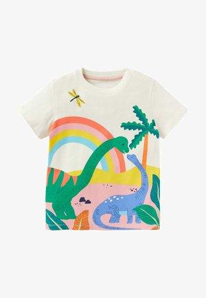 MIT SZENENMOTIV - Print T-shirt - naturweiß/dinosaurier