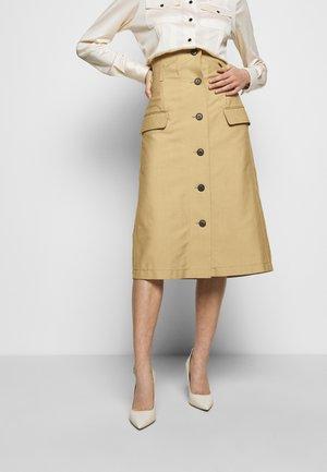 HIGH WAISTED - A-line skirt - taupe
