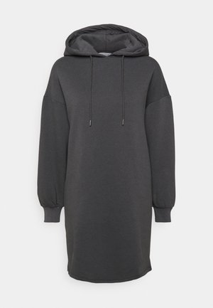 HOODIE MINI DRESS - Denní šaty - dark grey