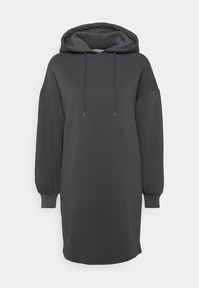 HOODIE MINI DRESS - Day dress - dark grey