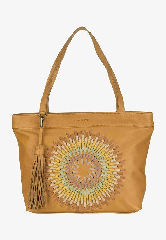 Shopping bag - dark honey