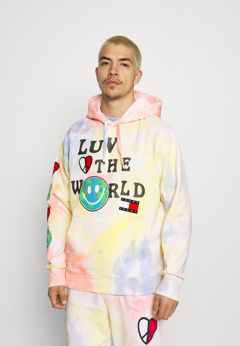 Tommy Jeans - LUV THE WORLD HOODIE UNISEX - Sweatshirt - multi-coloured