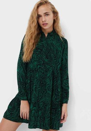 Skjortklänning - mottled green