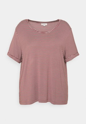 CARNANNA FOLD UP TEE - T-shirts med print - apple butter/cloud dancer