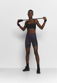 Nike Performance - ONE - Leggings - dark raisin/white - 1