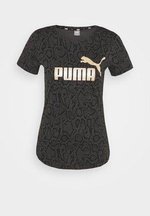 TEE - T-shirts med print - puma black