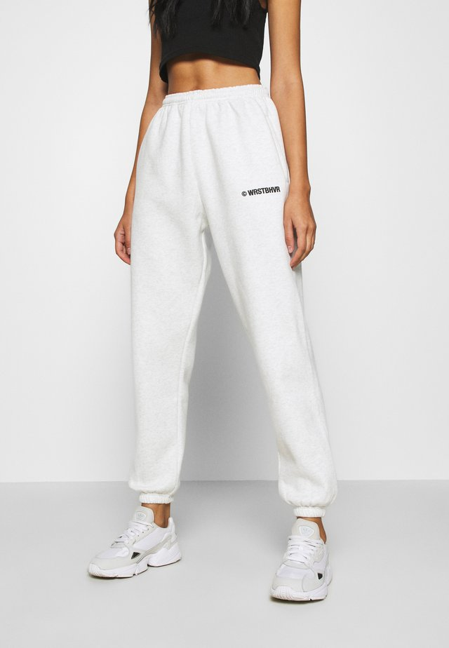 PANTS CORBY - Tracksuit bottoms - iced off white melange