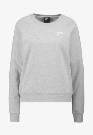 W NSW ESSNTL CREW FLC - Sweatshirts - grey heather/white