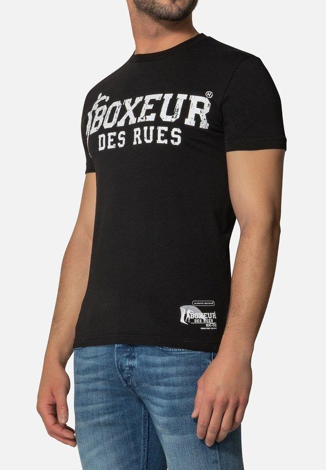 T-shirt con stampa - nero bianco