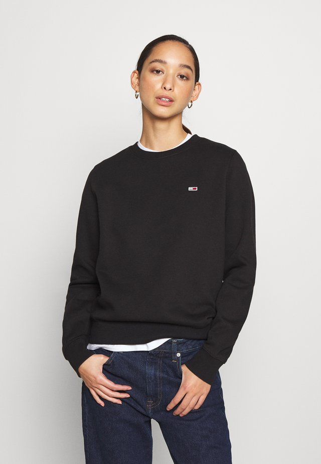 REGULAR C NECK - Sweater - black