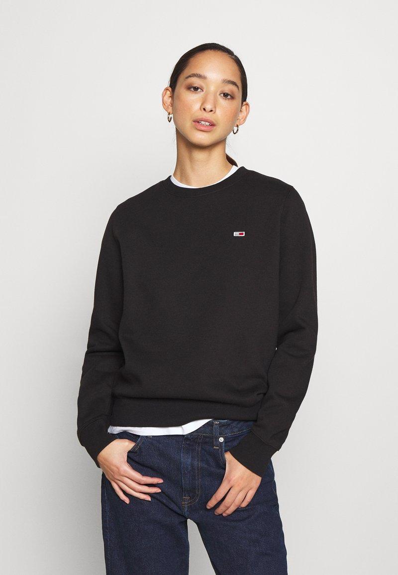Tommy Jeans - REGULAR C NECK - Sweatshirt - black