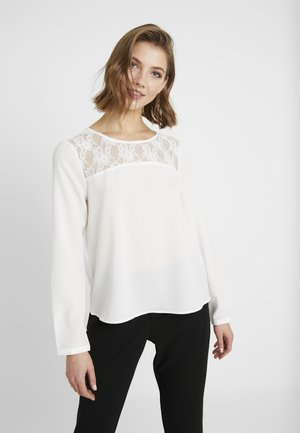 ONLMILA LUX SOLID - Blusa - cloud dancer