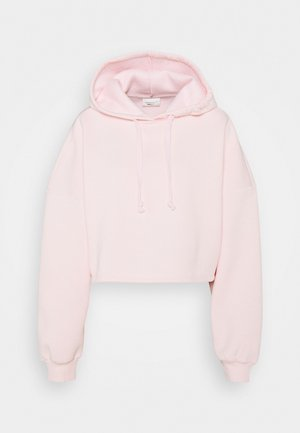 BASIC CROPPED HOOD - Hoodie - barely pink