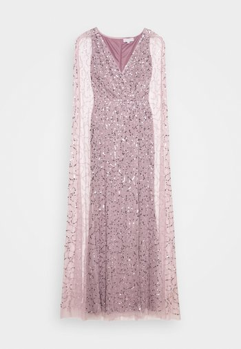 WRAP MAXI DRESS WITH CAPE DETAIL - Abito da sera - lilac