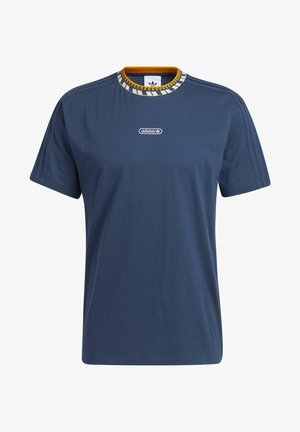RIB DETAIL T-SHIRT - T-shirt med print - blue