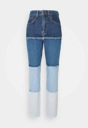 OMBRE MOM - Jeans straight leg - indigo/mid/light blue/stonewash