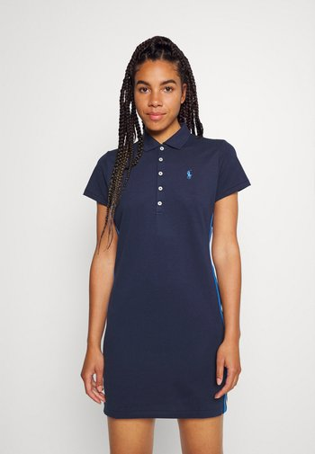 SHORT SLEEVE CASUAL DRESS - Sports dress - french navy