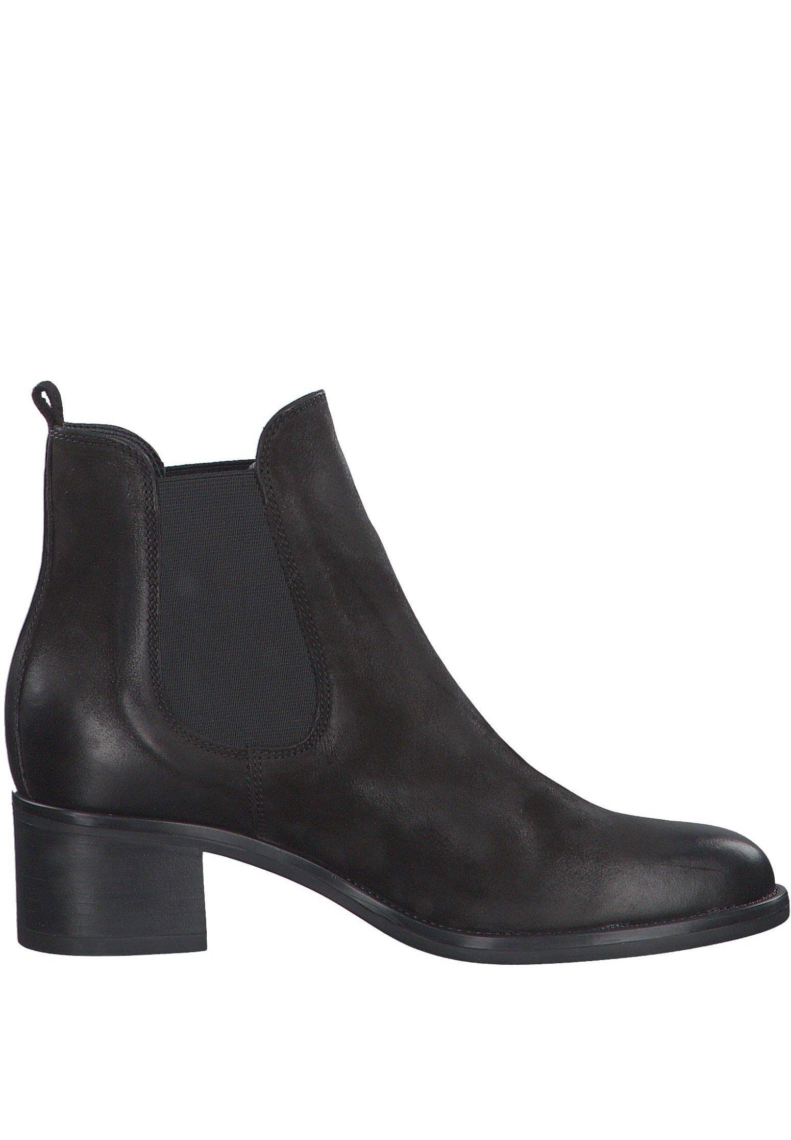 Tamaris Ankle Boot black nubuc/schwarz