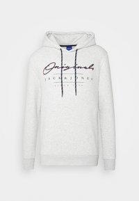 Jack & Jones - JORMARIUSS HOOD/SWEAT  - Sweatshirt - white melange - 4