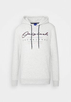 JORMARIUSS HOOD/SWEAT  - Sweatshirt - white melange